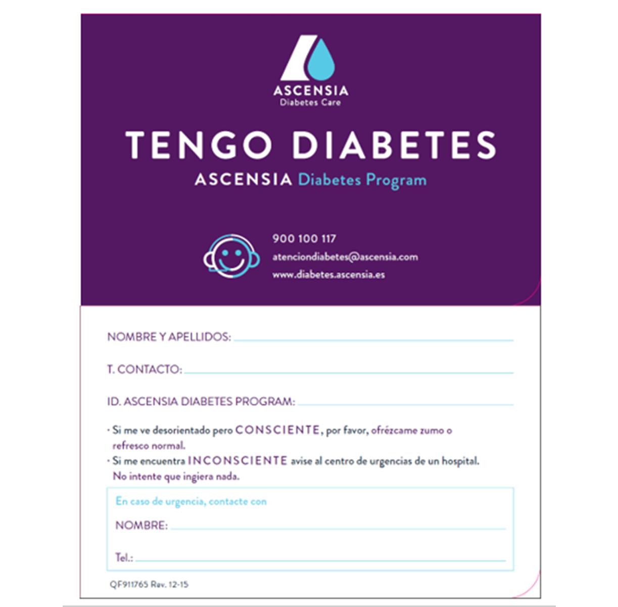 tenencias para el cuidado de la diabetes ascensia